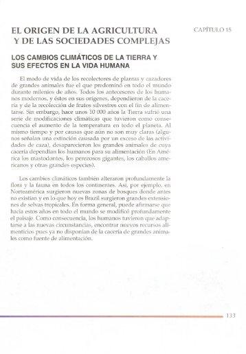 Unidad 15 - El origen de la agricultura y de las sociedades complejas.