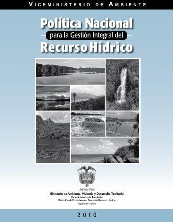 Política Nacional Recurso Hídrico - Ministerio de Ambiente ...