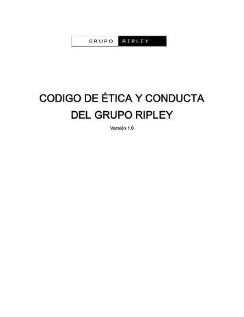 CODIGO DE ÉTICA Y CONDUCTA DEL GRUPO ... - Banco Ripley