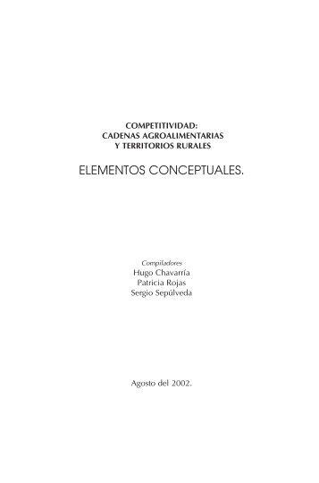 Competitividad y cadenas agroalimentarias - Territorios ...
