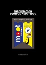 INFORMACIÓN EQUIPOS ADMITIDOS - Moot Lima
