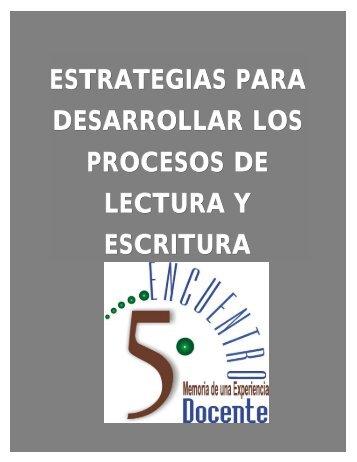estrategias para desarrollar los procesos de lectura y escritura