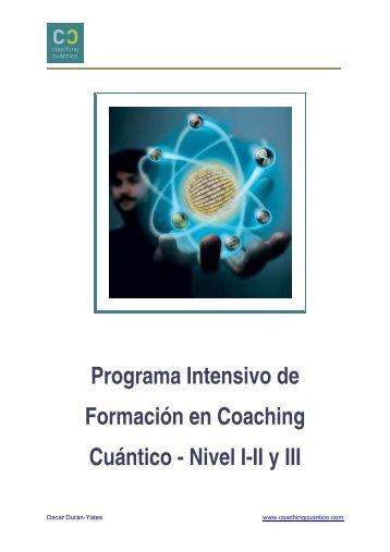 Programa Intensivo de Formación en Coaching Cuántico - Nivel I-II ...