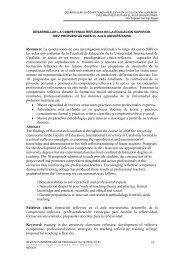 Título: Desarrollar la competencia reflexiva en la ... - Practica Reflexiva