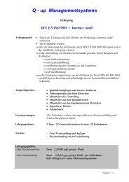 DIN EN ISO 9001 + Internes Audit - Q-up Managementsysteme - Start