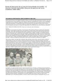 Discurso de apertura del curso académico 1880-1881
