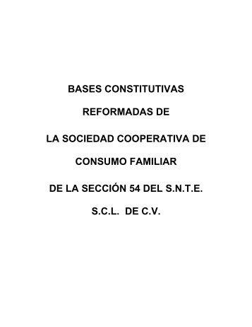 BASES CONSTITUTIVAS DE LA SOCIEDAD COOPERATIVA ... - Snte