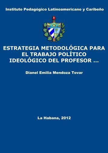 Estrategia metodológica para el trabajo político ideológico del ...