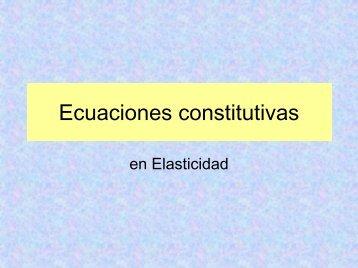 Ecuaciones constitutivas - Centro de Geociencias ::.. UNAM
