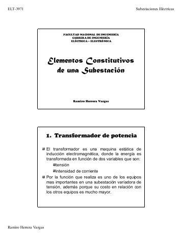 Elementos Constitutivos de una Subestación