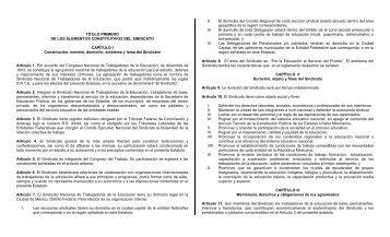 TÍTULO PRIMERO DE LOS ELEMENTOS CONSTITUTIVOS ... - SNTE