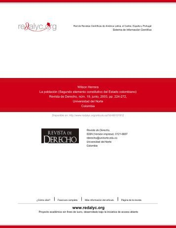 Segundo elemento constitutivo del Estado colombiano - Redalyc