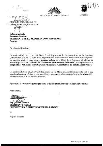 Caracter y Elementos Constitutivos del Estado Ecuatoriano