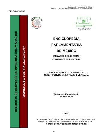 Serie III. Leyes y documentos constitutivos de la Nación mexicana