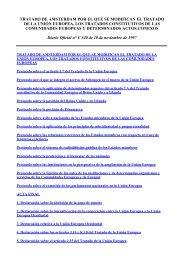 Tratado de Amsterdam - Secretaría General de Inmigración y ...
