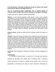 O ato de governar as tensões constitutivas do agir em saúde ... - UFF