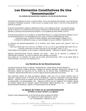 Los Elementos Constitutivos De Una Denominación - Josue ...