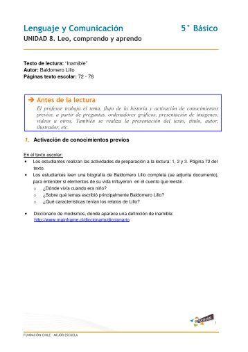 Lenguaje y Comunicación 5° Básico - Educarchile