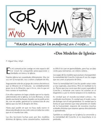 2012-05 Cor unum Mayo.pmd - Misioneros del Espíritu Santo