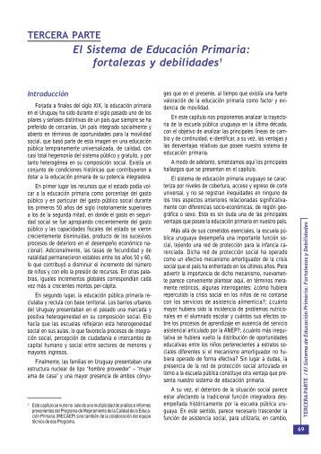 Tercera parte: El Sistema de Educación Primaria - OEI