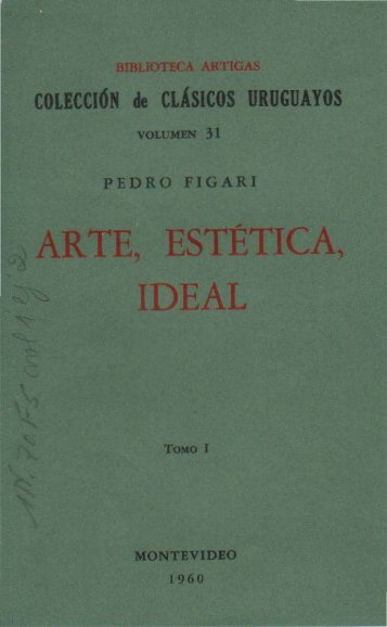 Arte, Estética, Ideal, tomo I - Figuras