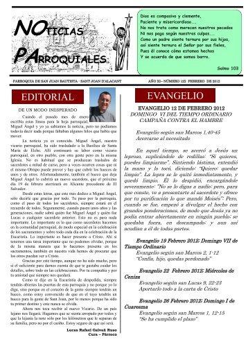Noticias parroquiales - Febrero 2012 - Parroquia de San Juan