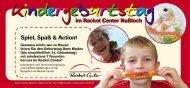 Kindergeburtstag im Racket Center