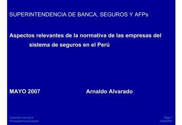 SUPERINTENDENCIA DE BANCA, SEGUROS Y AFPs ... - Sbs.gob.pe