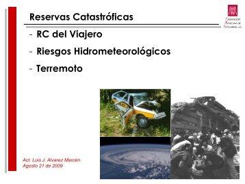 Reservas Catastróficas - RC del Viajero - Riesgos ...