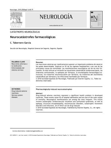 Neurocatástrofes farmacológicas - EsSalud