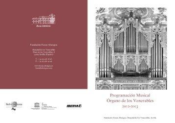 Programación musical 2012-2013 - Fundación Focus Abengoa