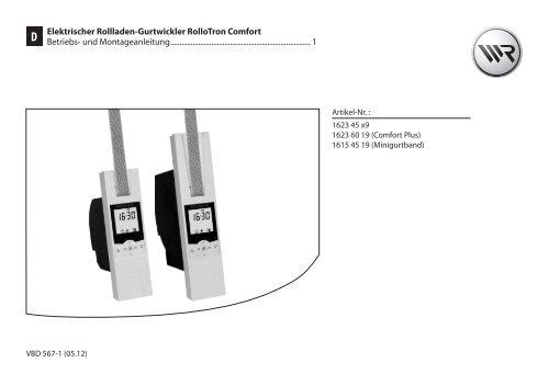 Elektrischer Rollladen Gurtwickler Rollotron Comfort Rademacher