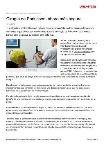 Cirugía de Parkinson, ahora más segura - Noticias - Universia