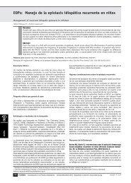 EOPs: Manejo de la epistaxis idiopática recurrente en ... - Foro APS