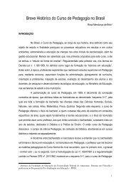 1. Breve histórico do curso de pedagogia no Brasil