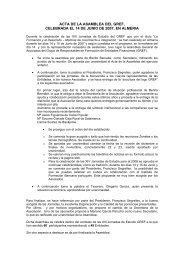acta de la asamblea del gref, celebrada el 14 de junio de 2007, en ...