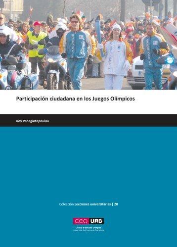Participación ciudadana en los Juegos Olímpicos - CEO-UAB ...