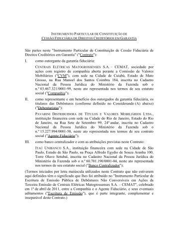 Contrato de Cessão Fiduciária - Pavarini