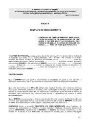 Anexo II - Contrato de Credenciamento - Secretaria da Fazenda