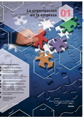 La organización en la empresa - McGraw-Hill