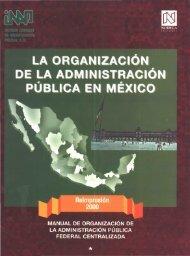 LA ORGANIZACiÓN ADMINISTRACiÓN - Instituto Nacional de ...