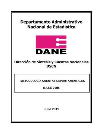 Metodología Cuentas Departamentales - DANE