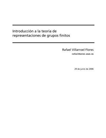 Introducción a la teoría de representaciones de grupos finitos