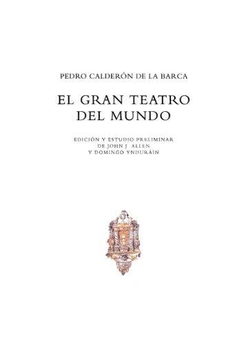 El gran teatro del mundo - Real Academia Española