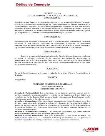 Codigo de Comercio - Foro Derecho Guatemala