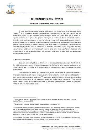 CELEBRACIONES CON JÓVENES - Biblioteca de Pastoral Juvenil