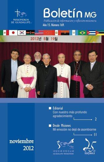 noviembre - Comunicación MG - Misioneros de Guadalupe