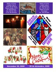 December 20, 2009 - Mother of Christ Catholic Church