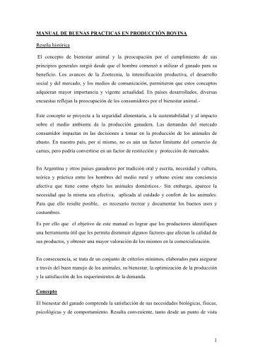 Manual de buenas prácticas en producción bovina - Senasa
