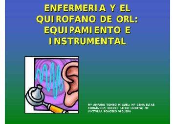 enfermeria y el quirofano de orl: equipamiento e ... - CODEM